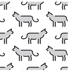 kids seamless pattern cat vector image vector image