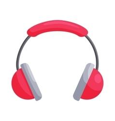 Pink headphones icon cartoon style vector image vector image