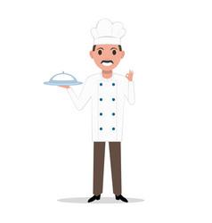 a cartoon chef cook man vector image