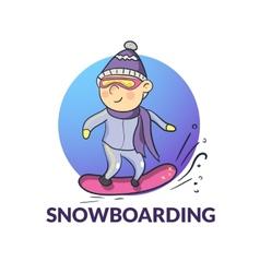 cartoon snowboarder vector image