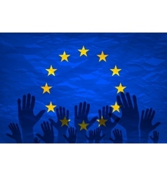 European union flag euro vote flag vote for the vector image