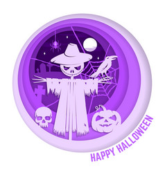 halloween is coming concept vector image