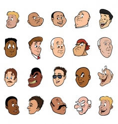 male faces vector image vector image