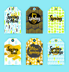 spring trendy hipster gift labels vector image vector image