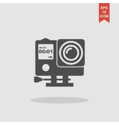 Action camera outline monochrome icon Extreme cam vector image
