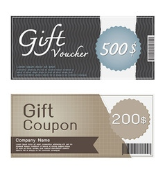 Gift Voucher and Coupon Templates Design vector image