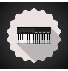 Music Keyboard Composer MIDI Synthesizer Flat Icon vector image
