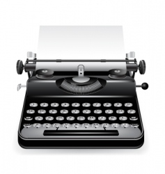 old typewriter with a paper vector image vector image