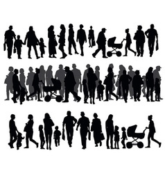 People on the street vector image vector image