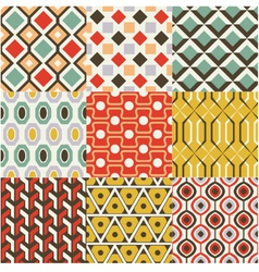 retro seamless abstract geometric pattern vector image vector image