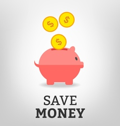 Save money vector image vector image