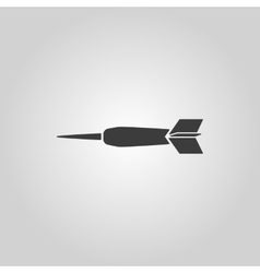 The dart icon Game symbol Flat vector image