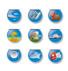 travel and resort badges vector image