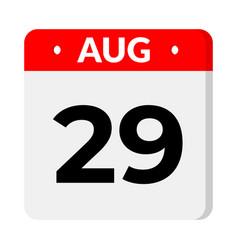 29 august calendar icon vector