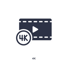 4k icon on white background simple element from vector