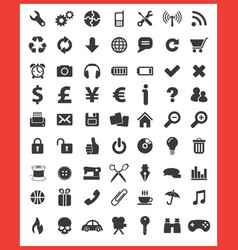 63 top icons vector