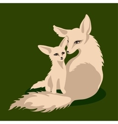 A fox family vector