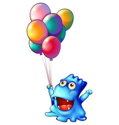 A monster with balloons vector image