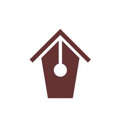 Abstract home pen logo icon concept vector