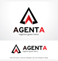 Abstract triangle logo template design vector