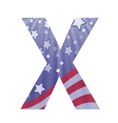 american letter X vector image