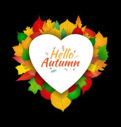 Autumn love design template vector
