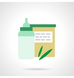 Baby nutrition flat color icon vector image