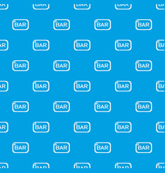 bar board pattern seamless blue vector image