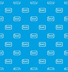 Bar board pattern seamless blue vector