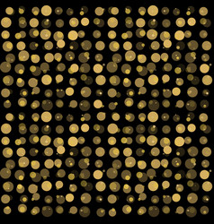 beautiful seamless pattern with gold glittering vector image