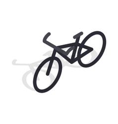 Black bike icon isometric 3d style vector image