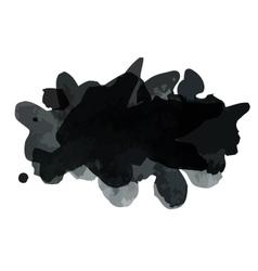 Black blot vector