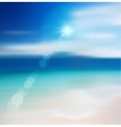 Blur Beach Background vector image