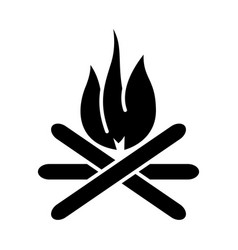 Bonfire icon black sign on vector