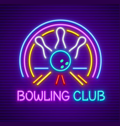 Bowling club sign vector
