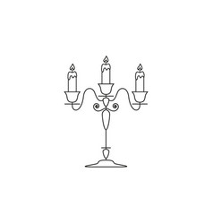 candlestick of icon vector image