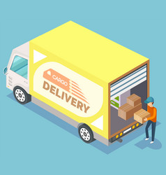 cargo delivery furniture relocation vector image
