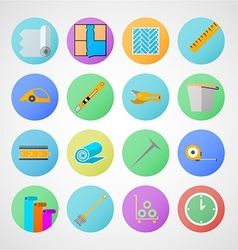Circle icons for linoleum flooring service vector