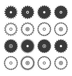 circular saw blade icon set vector image