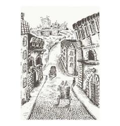 city design sketch vector image