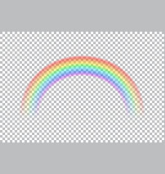 colored transparent rainbow vector image