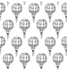 Coloring book page with vintage balloons vector