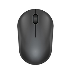 Dark gray realistic computer mouse vector