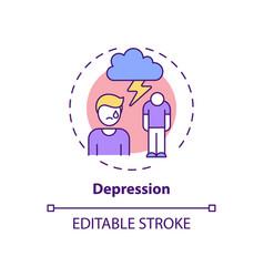 Depression concept icon vector