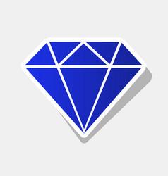 Diamond sign new year bluish vector