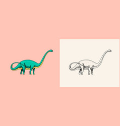 Dinosaur brachiosaurus or sauropod plateosaurus vector