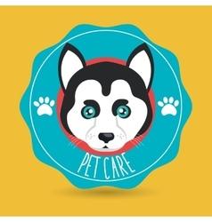 Dog pet care icon vector