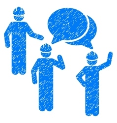 Engineer Persons Forum Grainy Texture Icon vector