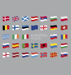 european flags eu waving flag design vector image