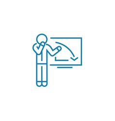 Explanation recession linear icon concept vector